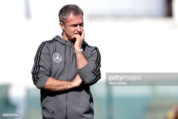 Christian Wuck coach of Germany during the UEFA Under16 match between U16 Portugal and U16 Germany on February 4 2016 in Vila Real de Santo Antonio...