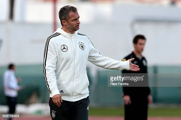 Christian Wuck coach of Germany during the UEFA Under16 match between U16 France v U16 Germany on February 6 2016 in Vila Real de Santo Antonio...