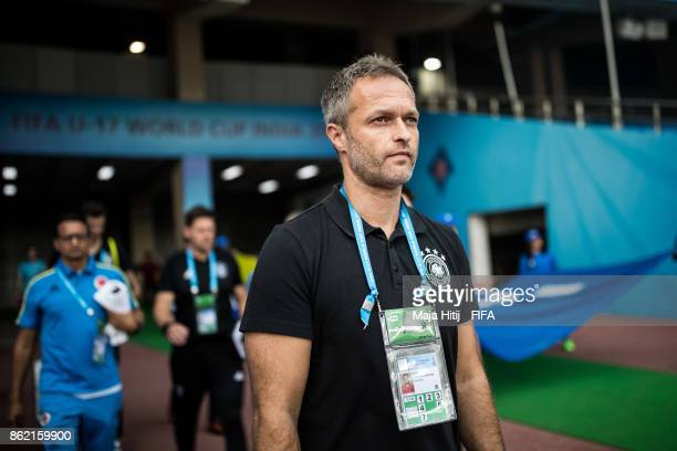Christian Wueck head coach of Germany prior the FIFA U17 World Cup India 2017 Round of 16 match between Columbia and Germany at Jawaharlal Nehru...