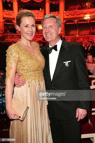 Christian Wulff and his wife Bettina Wulff during the Semper Opera Ball 2016 at Semperoper on January 29 2016 in Dresden Germany