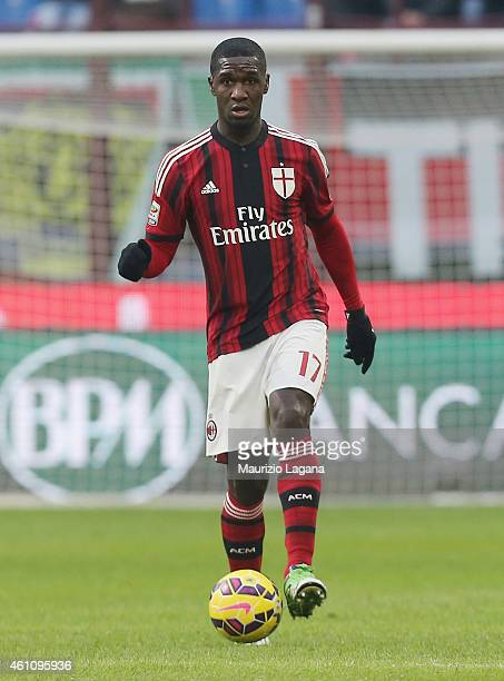 Christian Zapata of Milan during the Serie A match between AC Milan and US Sassuolo Calcio at Stadio Giuseppe Meazza on January 6 2015 in Milan Italy