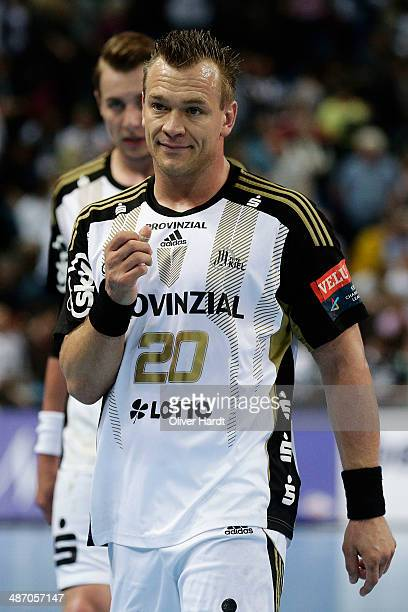 Christian Zeitz of Kiel during the Velux EHF Champions League quarter final handball match between THW Kiel and MKD HC Metalurg Skopje at Sparkassen...