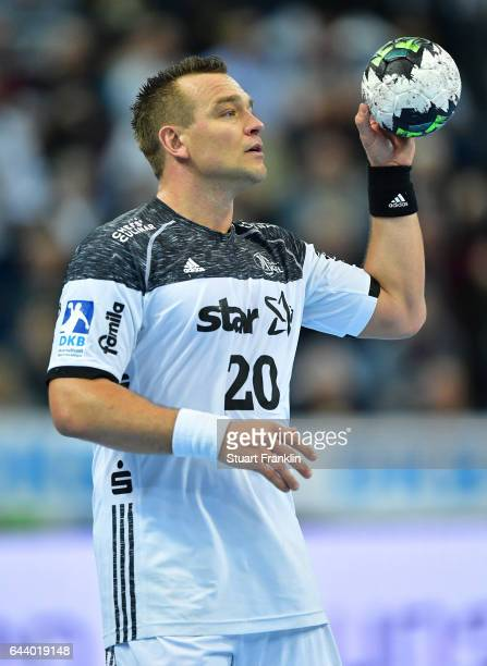 Christian Zeitz of Kiel in action during the DKB Handball Bundesliga game between THW Kiel and MT Melsungen at Sparkassen Arena on February 22 2017...