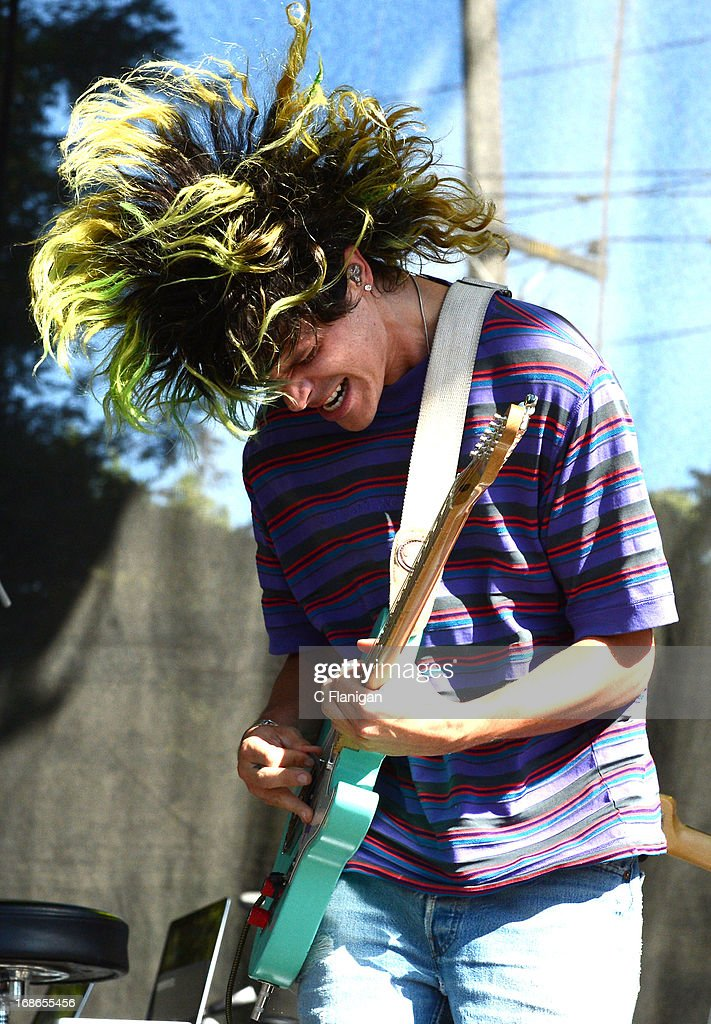 Christian Zucconi of Grouplove performs during the 2103 Bottle Rock Music Festival on May 12, 2013 in Napa, California.