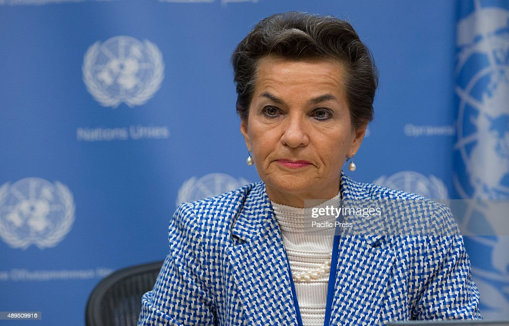<a gi-track='captionPersonalityLinkClicked' href=/galleries/search?phrase=Christiana+Figueres&family=editorial&specificpeople=7113536 ng-click='$event.stopPropagation()'>Christiana Figueres</a>, Executive Secretary of the UN Framework Convention on Climate Change (UNFCCC), addresses a press briefing to announce the winners of the 2015 Equator Prize, which will be awarded to 20 outstanding local and indigenous community initiatives that are advancing innovative solutions for people, nature and resilient communities. at the United Nations Headquarters in New York City.