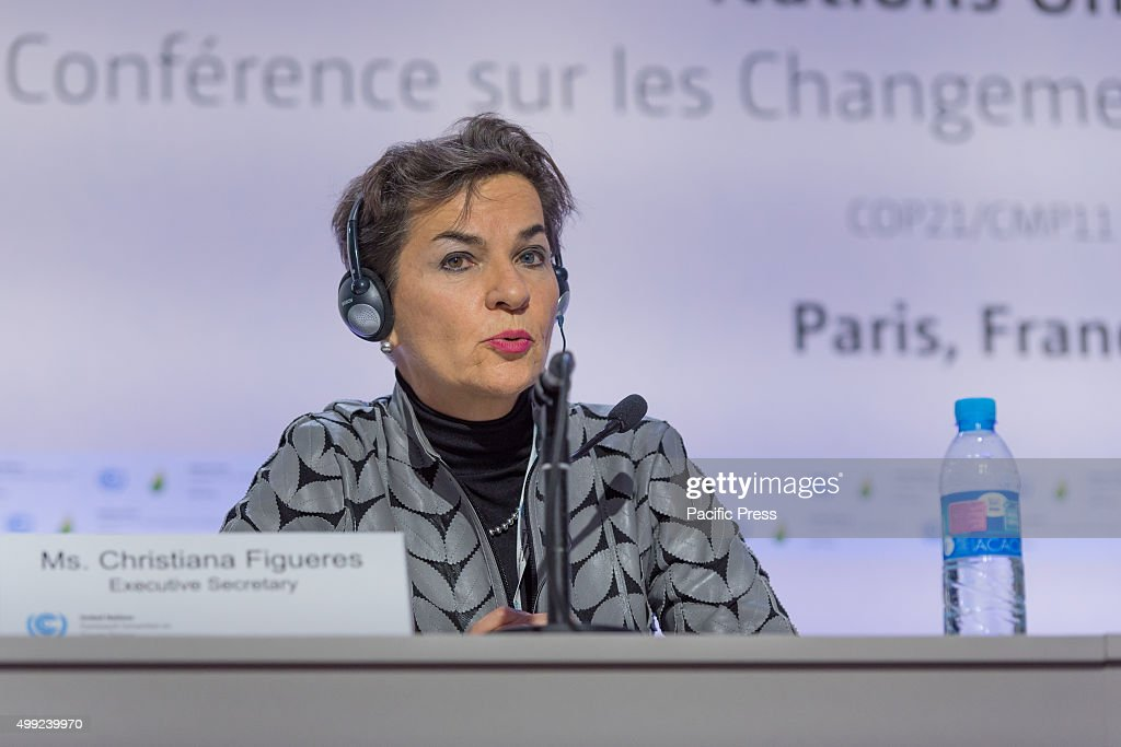 <a gi-track='captionPersonalityLinkClicked' href=/galleries/search?phrase=Christiana+Figueres&family=editorial&specificpeople=7113536 ng-click='$event.stopPropagation()'>Christiana Figueres</a> (UNFCCC) gives a Join press briefing before the start of the 21st Conference of the Parties (COP21) will start on Monday 30 November.