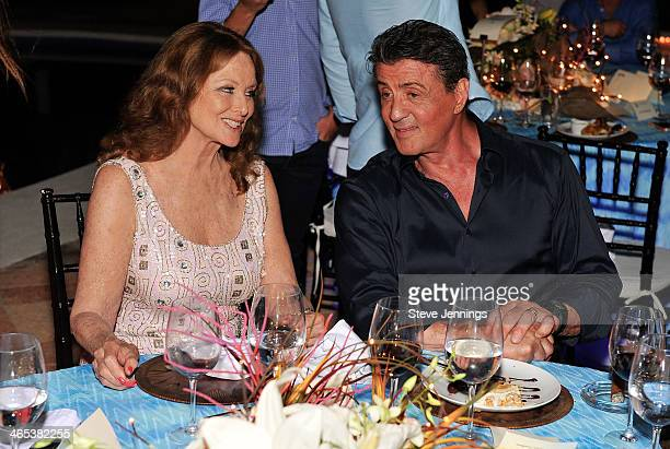 Christiane Aleman and Sylvester Stallone at the private dinner to celebrate the 9th Annual Acapulco Film Festival on January 25 2014 in Acapulco...