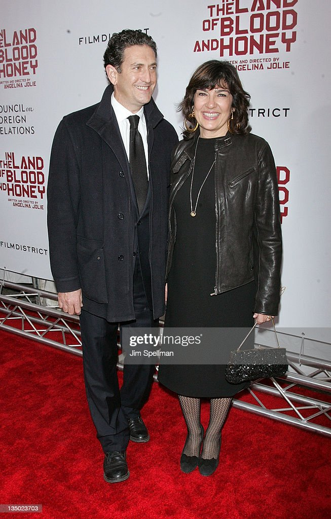 <a gi-track='captionPersonalityLinkClicked' href=/galleries/search?phrase=Christiane+Amanpour&family=editorial&specificpeople=621528 ng-click='$event.stopPropagation()'>Christiane Amanpour</a> (R) and guest attend the premiere of 'In the Land of Blood and Honey' at the School of Visual Arts on December 5, 2011 in New York City.