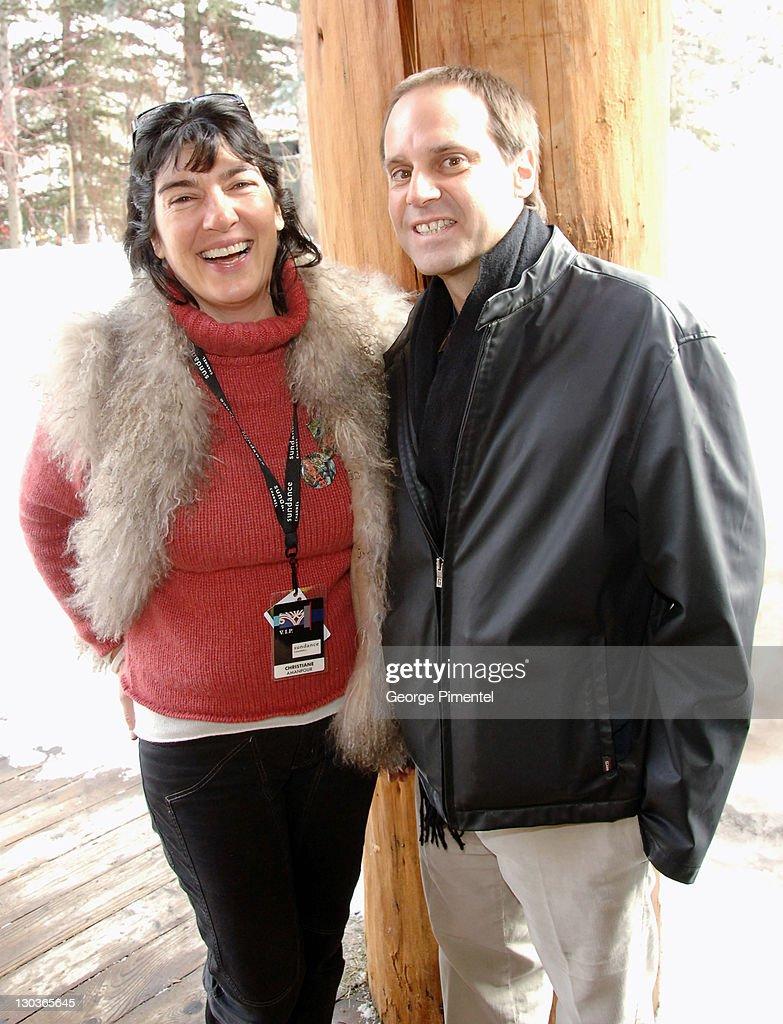 Christiane Amanpour and Jeff Skoll during 2006 Sundance Film Festival - Director's Brunch at Sundance Resort in Park City, Utah, United States.