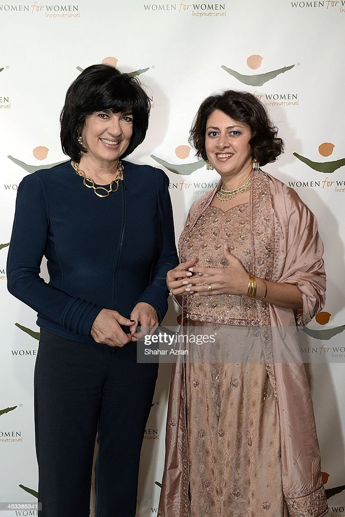 <a gi-track='captionPersonalityLinkClicked' href=/galleries/search?phrase=Christiane+Amanpour&family=editorial&specificpeople=621528 ng-click='$event.stopPropagation()'>Christiane Amanpour</a> and President and CEO of Women for Women International Afshan Khan attend the Women for Women 20th Anniversary Gala celebration at the American Museum of Natural History on December 3, 2013 in New York City.