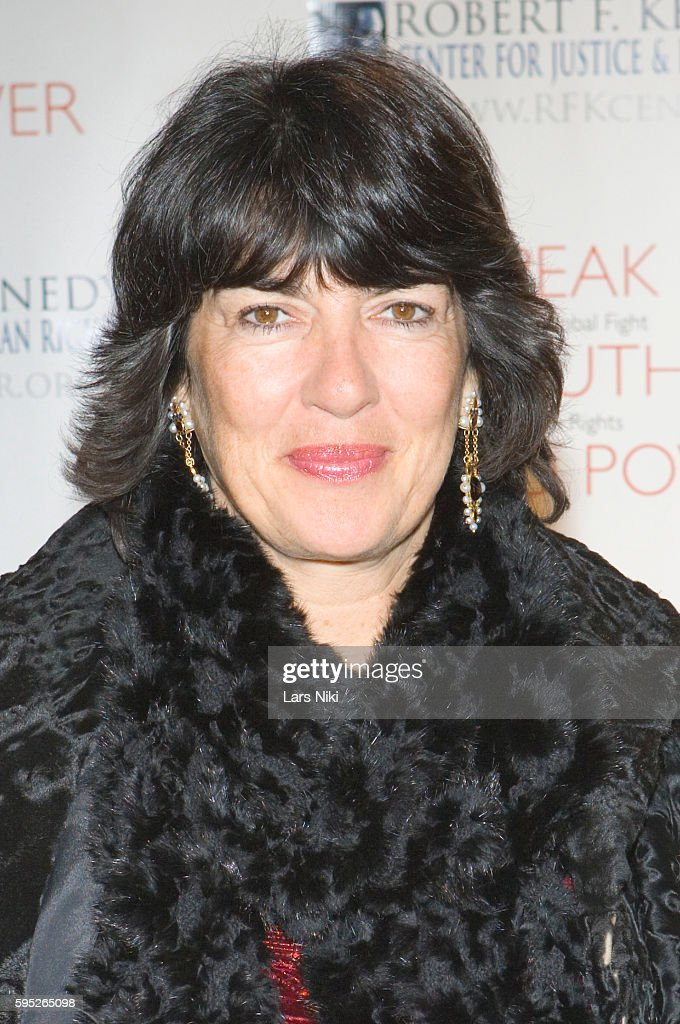 Christiane Amanpour attends the 'Robert F Kennedy Center For Justice Human Rights Bridge Dedication Gala' at Pier 60 in New York City