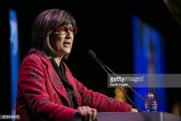 Christiane Amanpour speaks at CPJ's annual International Press Freedom Awards on November 15 2017 in New York City