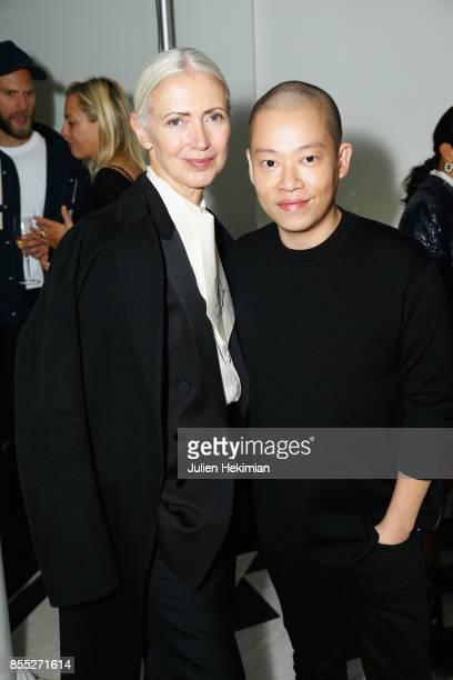 Christiane Arp and Jason Wu attend the Atelier Swarovski By Jason Wu dinner as part of the Paris Fashion Week Womenswear Spring/Summer 2018 on...
