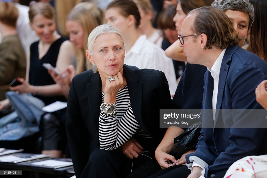 <a gi-track='captionPersonalityLinkClicked' href=/galleries/search?phrase=Christiane+Arp&family=editorial&specificpeople=2942750 ng-click='$event.stopPropagation()'>Christiane Arp</a> attends the Dorothee Schumacher show during the Mercedes-Benz Fashion Week Berlin Spring/Summer 2017 at Elisabethkirche on June 29, 2016 in Berlin, Germany.