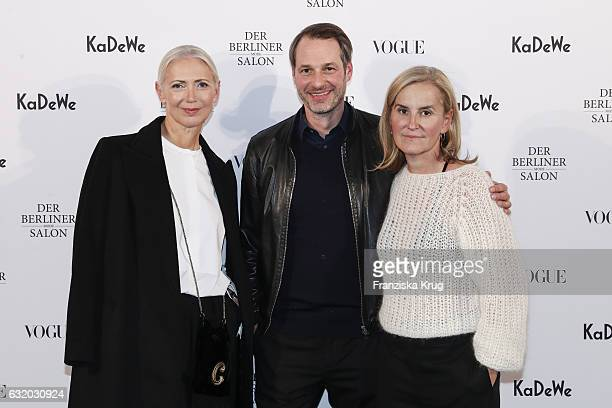 Christiane Arp Marcus Kurz and Petra Fladenhofer attend the celebration of 'Der Berliner Mode Salon' by KaDeWe Vogue at KaDeWe on January 18 2017 in...