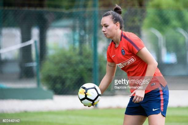 Christiane Endler of Paris Saint Germain during a training session of Paris Saint Germain at Bougival on July 25 2017 in Paris France