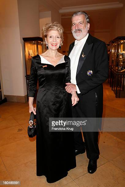 Christiane Hoerbiger and Gerhard Toetschinger attend the 'Semper Opera Ball 2013' on February 1 2013 in Dresden Germany
