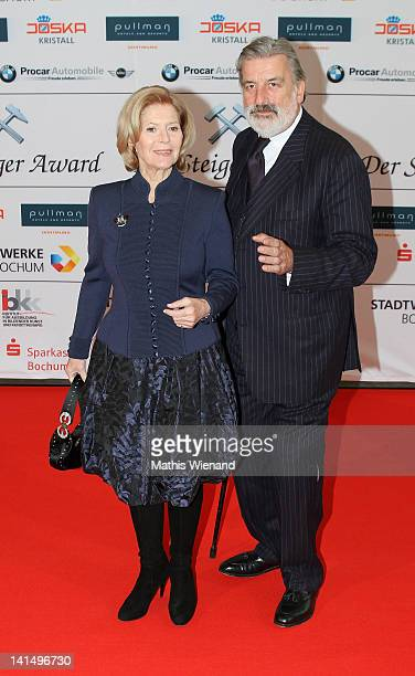 Christiane Hoerbiger and Gerhard Toetschinger attend the 'Steiger Awards' at Jahrhundert Halle on March 17 2012 in Bochum Germany