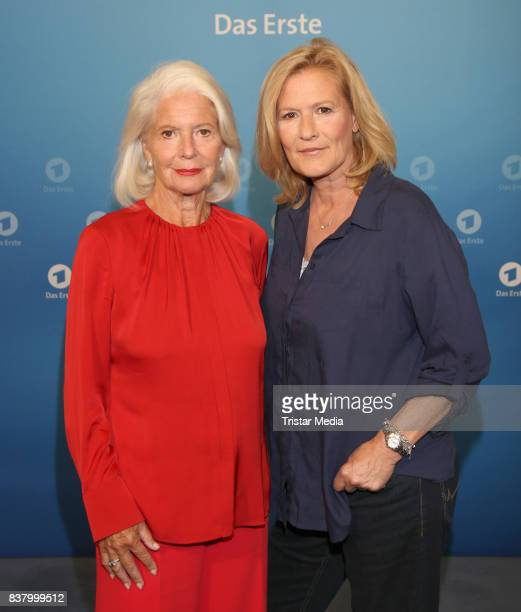 Christiane Hoerbiger and Suzanne von Borsody during the 'Die letzte Reise' Photo Call at Hotel Atlantic Kempinski on August 23 2017 in Hamburg Germany