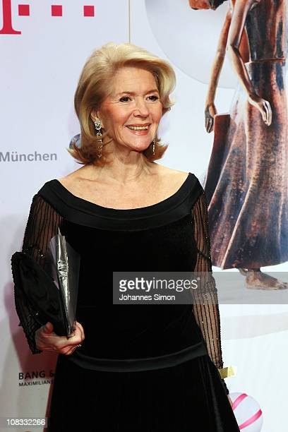 Christiane Hoerbiger attends the Diva Award 2011 at Hotel Bayerischer Hof on January 25 2011 in Munich Germany
