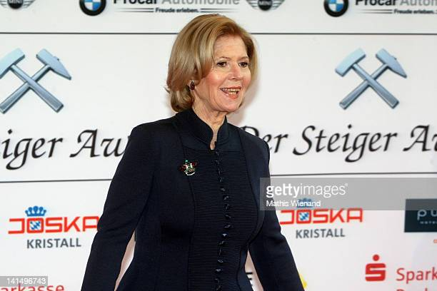 Christiane Hoerbiger attends the 'Steiger Awards' at Jahrhundert Halle on March 17 2012 in Bochum Germany