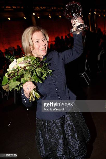 Christiane Hoerbiger attends the 'Steiger Awards Show' at Jahrhundert Halle on March 17 2012 in Bochum Germany