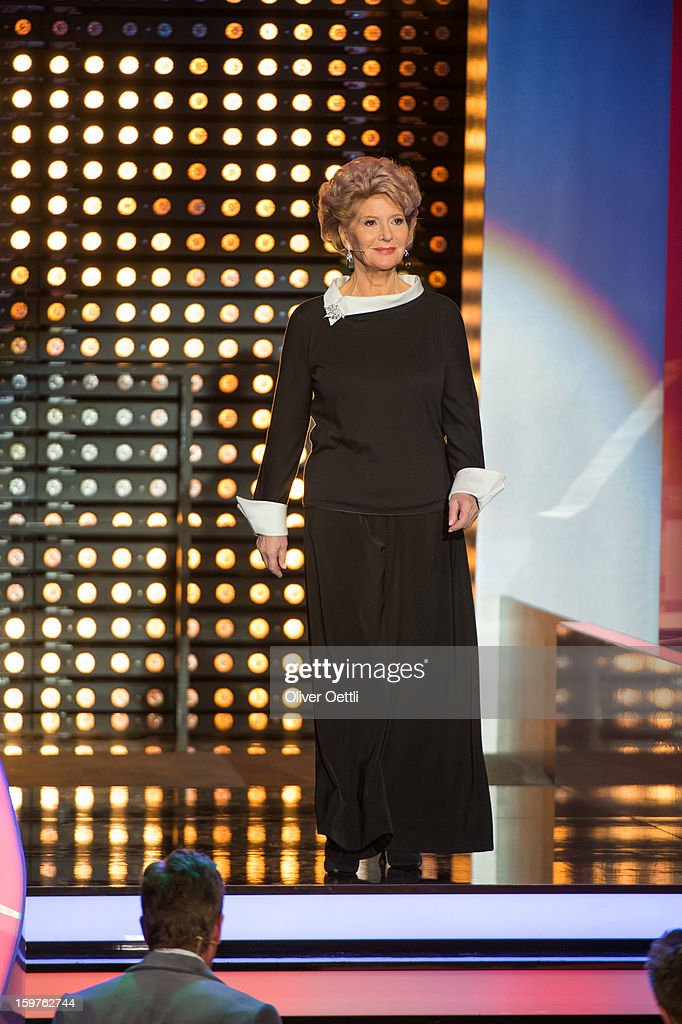 Christiane Hoerbiger attends the 'Wetten dass..?' show on January 19, 2013 in Offenburg, Germany.
