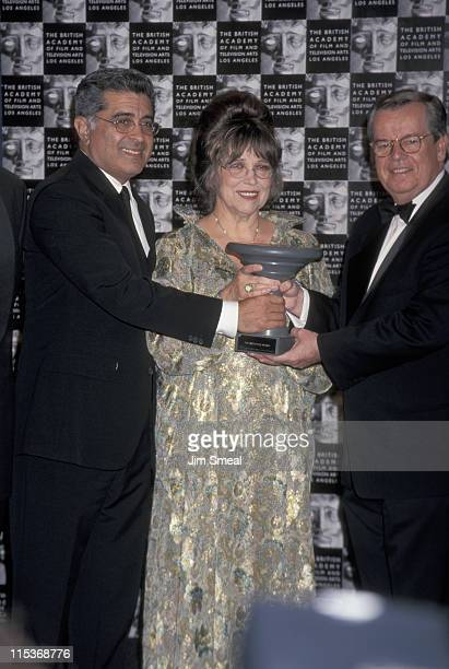 Christiane Kubrick with Terry Semel and Bob Daly of Warner Bros