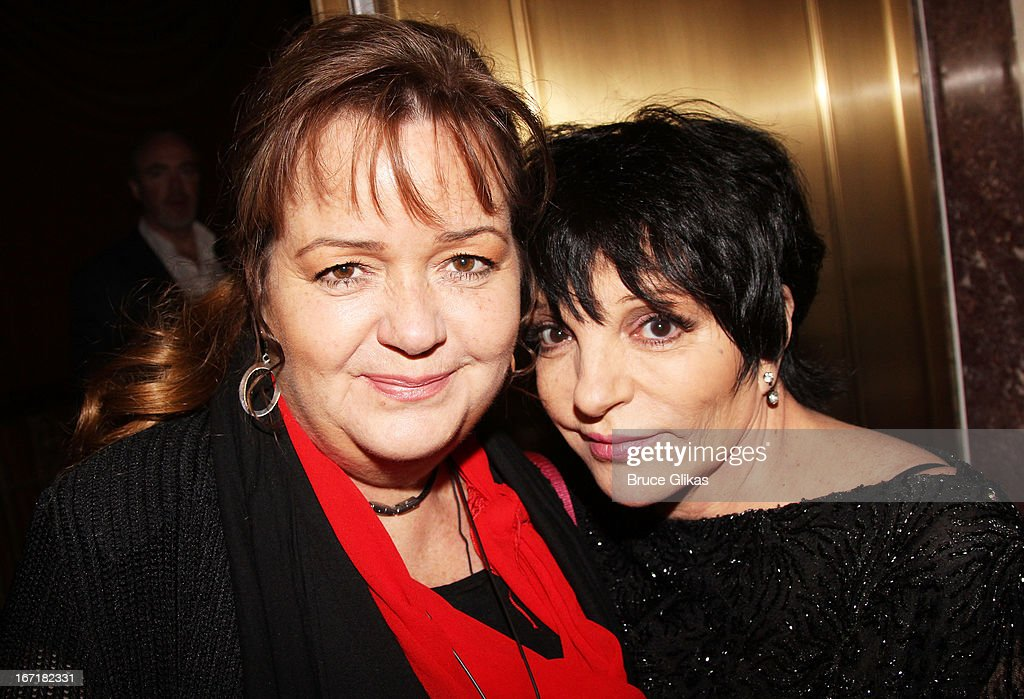 Christiane Nina Minnelli and sister Liza Minnelli attend the Broadway opening night of 'Macbeth' at The Ethel Barrymore Theatre on April 21 2013 in...