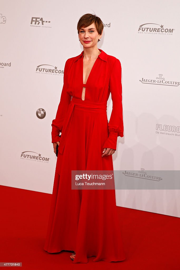 Christiane Paul arrives for the German Film Award 2015 Lola (Deutscher Filmpreis) at Messe Berlin on June 19, 2015 in Berlin, Germany.