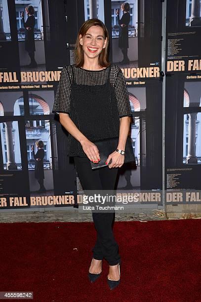 Christiane Paul attends 'Der Fall Bruckner' Premiere at Kino Filmkunst66 on September 17 2014 in Berlin Germany