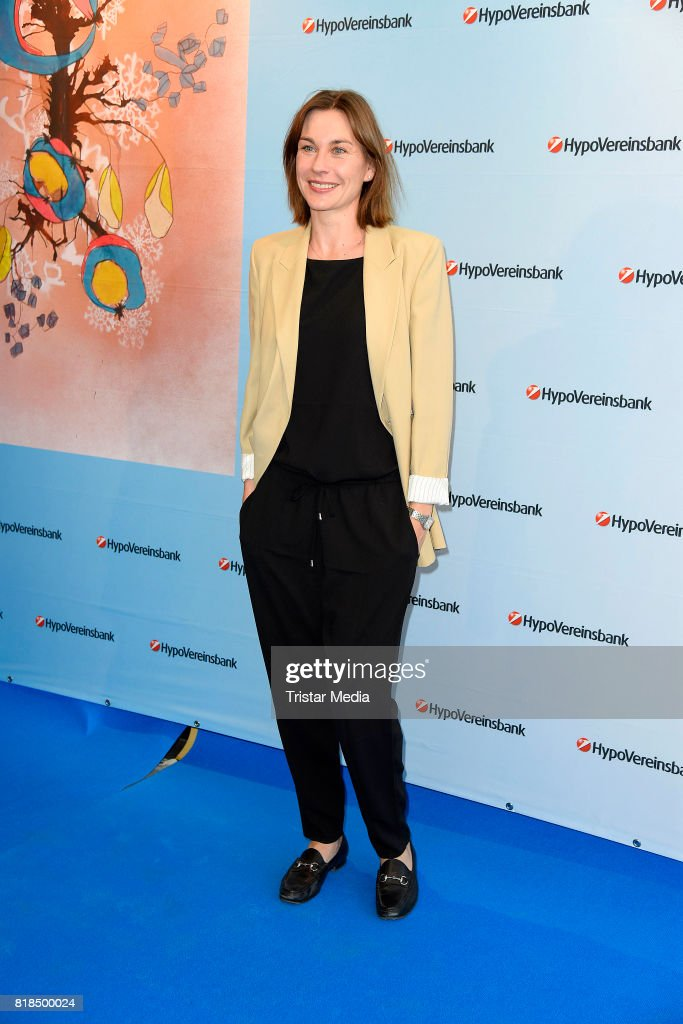 Christiane Paul attends the exhibition opening 'Judith Milberg: Aus der Mitte' at HypoVereinsbank Charlottenburg on July 18, 2017 in Berlin, Germany.