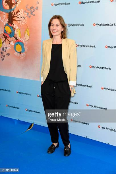 Christiane Paul attends the exhibition opening 'Judith Milberg Aus der Mitte' at HypoVereinsbank Charlottenburg on July 18 2017 in Berlin Germany