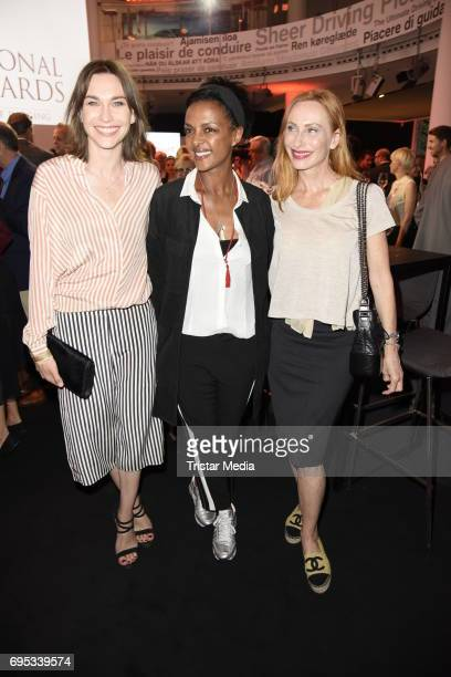 Christiane Paul Dennenesch Zoude and Andrea Sawatzki attend the Cocktail prolonge to the SemiFinal Round of Judging of the International Emmy Awards...