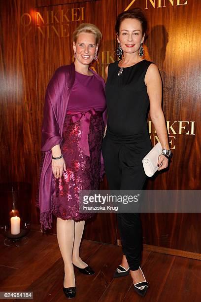 Christiane Peters and Sabrina Staubitz attend the Nikkei Nine restaurant opening at The Fairmont Hotel Vier Jahreszeiten on November 21 2016 in...