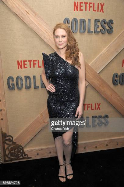 Christiane Seidel attends 'Godless' New York premiere at The Metrograph on November 19 2017 in New York City