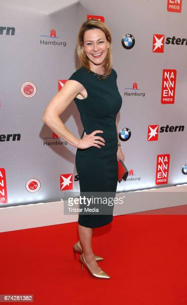Christiane zu Salm during the Henri Nannen Award red carpet arrivals on April 27 2017 in Hamburg Germany
