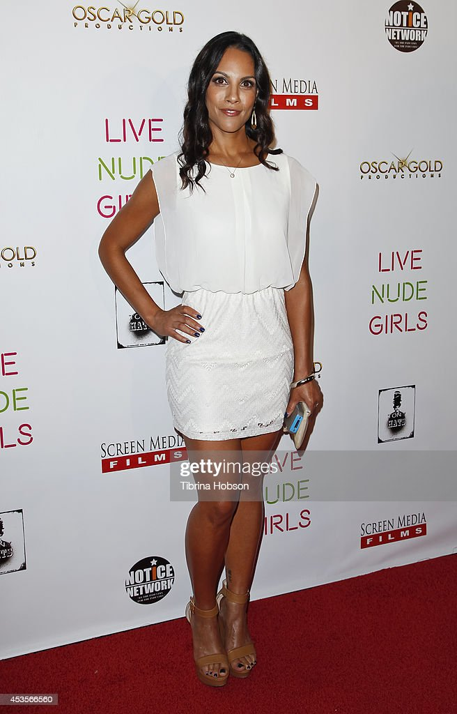 Christianna Carmine attends the 'Live Nude Girls' premiere at Avalon on August 12, 2014 in Hollywood, California.