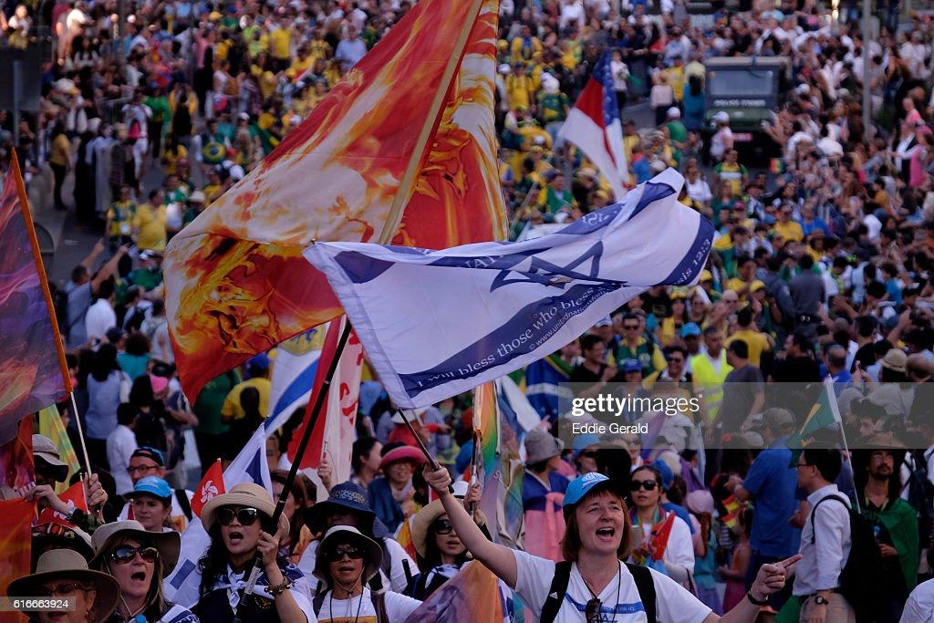 Christians Parade in Jerusalem : Stock Photo