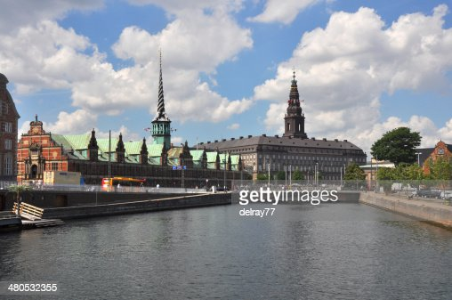 Christiansborg Castle and Borse, Copenhagen : Stockfoto