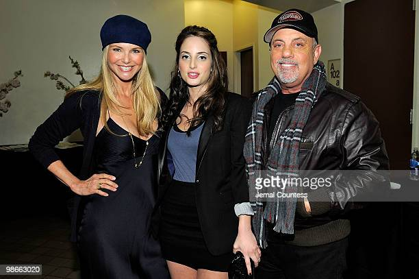 Christie Brinkley Alexa Ray Joel and Billy Joel attend the premiere of 'Last Play At Shea' during the 2010 Tribeca Film Festival at the Tribeca...