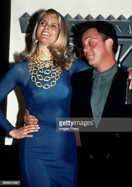 Christie Brinkley and Billy Joel attend the 2nd Annual International Rock Awards circa 1990 in New York City