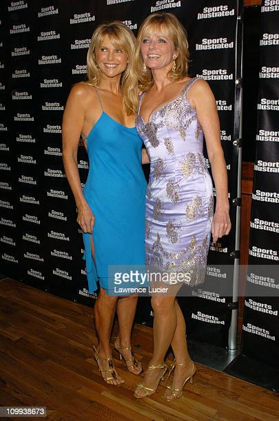 Christie Brinkley and Cheryl Tiegs during 2004 Sports Illustrated Swimsuit Issue 40th Anniversary Edition at Club Deep in New York City New York...