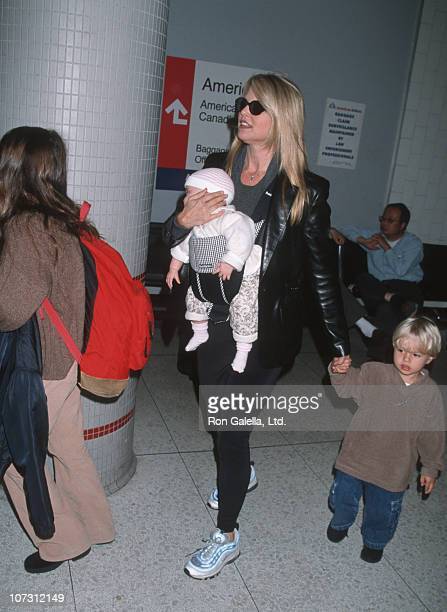 Christie Brinkley and children during Christie Brinkley and Family Sighting at Los Angeles International Airport November 7 1998 at Los Angeles...