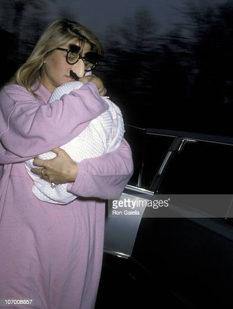 Christie Brinkley and Daughter Alexa Joel during Christie Brinkley and Daughter Alexa Joel Sighting Outside Brinkley's Apartment January 2 1986 at...