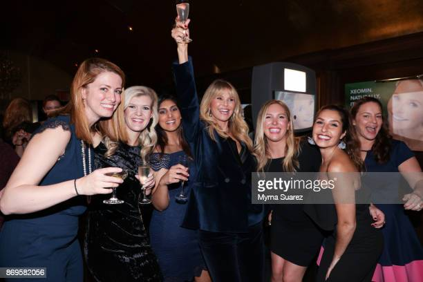 Christie Brinkley and guests attend a cocktail party to celebrate Christie Brinkley as the new spokesperson for Xeomin and Ultherapy at Gold Bar on...