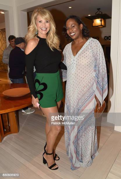 Christie Brinkley and Kamilah Forbes attend Apollo in the Hamptons at The Creeks on August 12 2017 in East Hampton New York