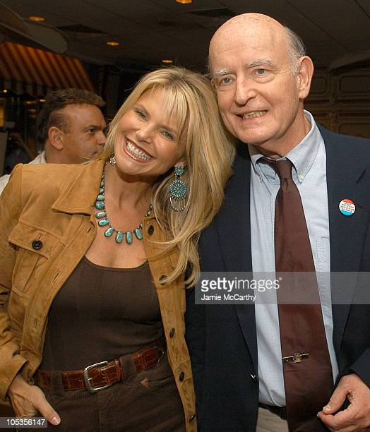 Christie Brinkley and Peter Boyle during 'People We Know Horses They Love' Book Launch Party at Fresco To Go in New York City New York United States
