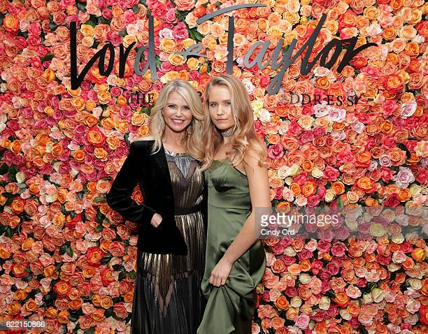 Christie Brinkley and Sailor Brinkley attend Lord Taylor Garden City Grand ReOpening Celebration on November 9 2016 at Lord Talyor in Garden City New...