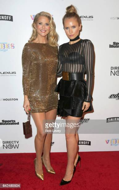 Christie Brinkley and Sailor Brinkley Cook at the VIBES by Sports Illustrated Swimsuit 2017 launch festival on February 17 2017 in Houston Texas